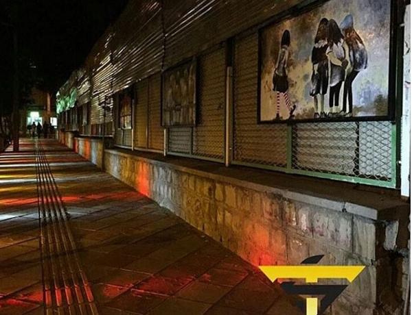 اجرا و طراحی اولین وبزرگترین گالری دائمی رو باز به سبک اسپانیایی در سبزوار ، پارک بانوان