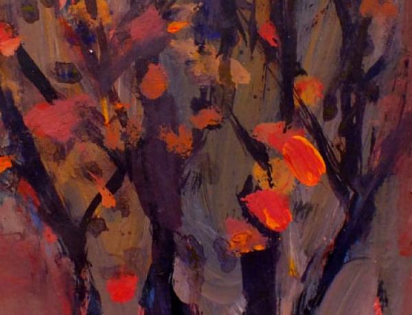 نمایشگاه نقاشی «باغ انار» تجربه ای غیرکلیشه ای در گالری های هنری سبزوار