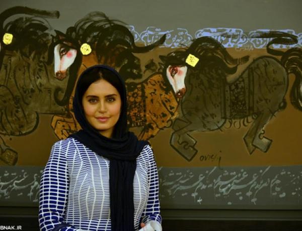 الناز شاکردوست چراغ پنجمین حراج تهران را روشن کرد!